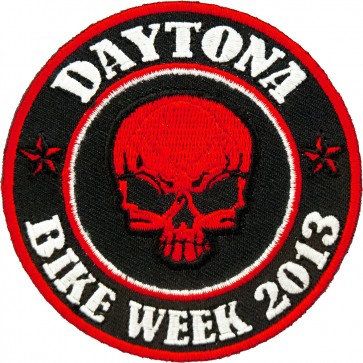 2013 Daytona Bike Week Red Skull Round Event Patch