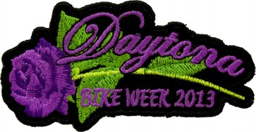2013 Daytona Bike Week Purple Rose Event Patch