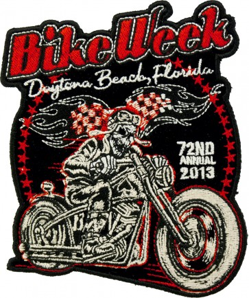 2013 Daytona Bike Week Racer Skeleton Biker Event Patch