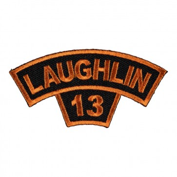 Embroidered 2013 Laughlin Tab Orange Rocker Event Patch
