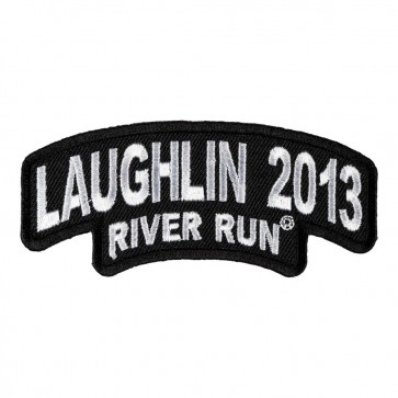 31st Annual 2013 Laughlin River Run Stacked White Rocker Event Patch