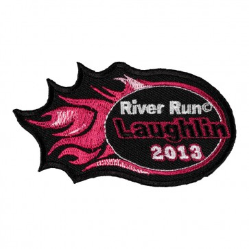 Embroidered 2013 Laughlin River Run Pink Flames Event Patch