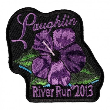31st Annual Laughlin River Run Purple Flower 2013 Event Patch