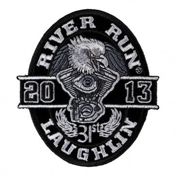 2013 Laughlin River Run Black Oval Eagle Over Twin Engine Event Patch