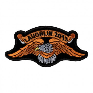 Embroidered 2013 Laughlin Orange Eagle Event Patch