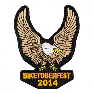 2014 Biketoberfest Brown Eagle Upwing Event Patch