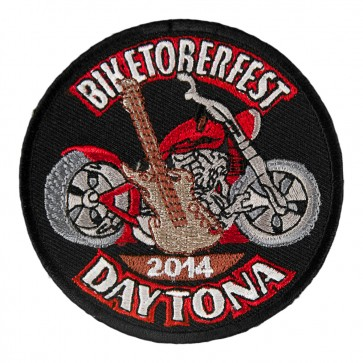 2014 Biketoberfest Daytona Guitar & Motorcycle Event Patch