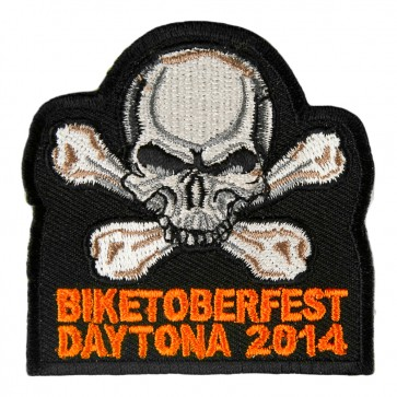 2014 Biketoberfest Daytona Skull & Crossbones Event Patch
