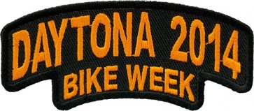 Orange Bike Week Rocker Patch