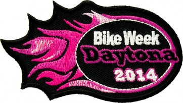 Pink Flames Daytona Event Patch