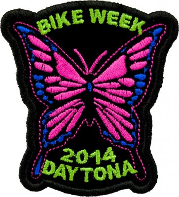 Pink Bike Week Butterfly Event Patch