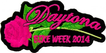 Pink Rose Bike Week Patch