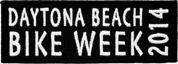 Black & White Bike Week Patch