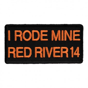 Iron On 2014 Red River I Rode Mine Orange Event Patch