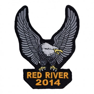 Embroidered 2014 Red River Silver Eagle Upwing Event Patch