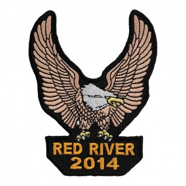 Embroidered 2014 Red River Brown Eagle Upwing Event Patch