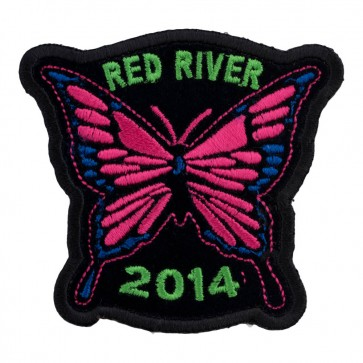 Embroidered 2014 Red River Pink Butterfly Event Patch