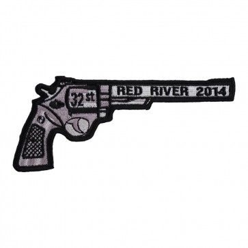 Sew On 2014 Laughlin River Run Right Revolver Hand Gun Event Patch