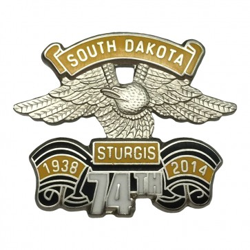 Official Sturgis 2014 74th Eagle Wing Pin