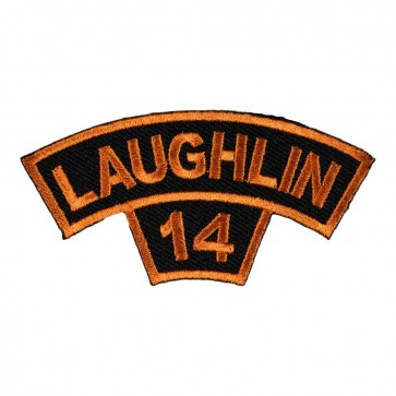 Embroidered 2014 Laughlin Tab Orange Rocker Event Patch