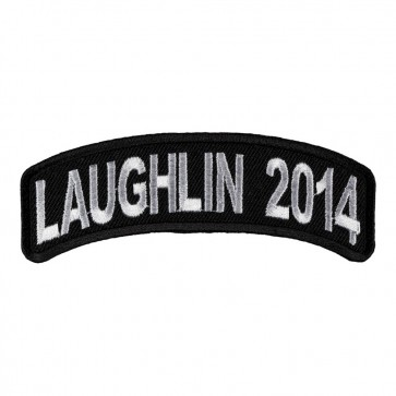 Embroidered 2014 Laughlin White Rocker Event Patch