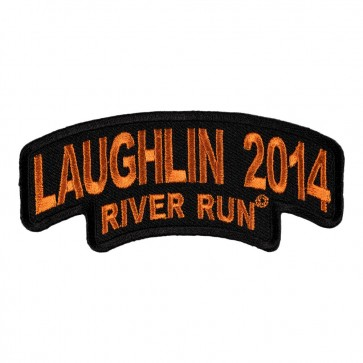 32nd 2014 Laughlin River Run Stacked Black & Orange Rocker Event Patch