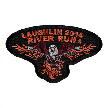 32nd Anniversary 2014 Laughlin River Run Flaming Eagle Event Patch