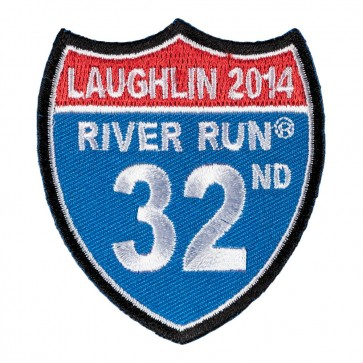 Sew On 2014 Laughlin River Run Road Sign Event Patch