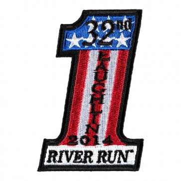 32nd Annual 2014 Laughlin River Run US Flag #1 Event Patch