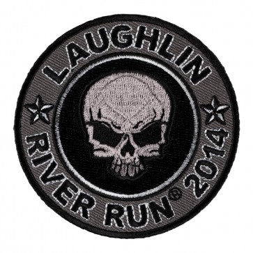 Sew On 2014 Laughlin River Run Grey Skull Round Event Patch