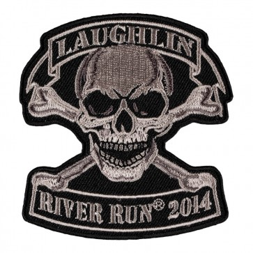 32nd Annual 2014 Laughlin River Run Tan Skull & Crossbones Event Patch
