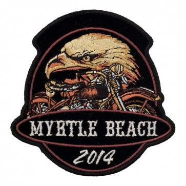 2014 Myrtle Beach Golden Eagle Motorcycle Sew On Event Patch