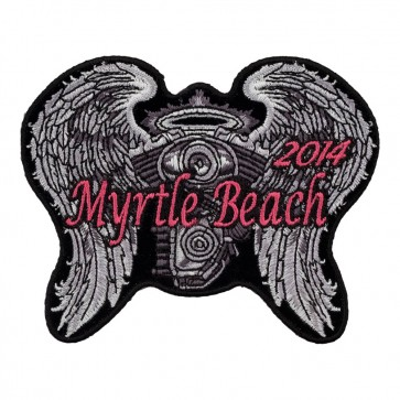 2014 Myrtle Beach Angel Wings & Engine Sew On Anniversary Patch