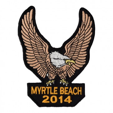 2014 Myrtle Beach Brown Eagle Upwing Embroidered Event Patch