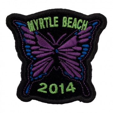 2014 Embroidered Myrtle Beach Purple Butterfly Event Patch
