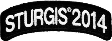 2014 Sturgis Motorcycle Rally White Rocker Event Patch