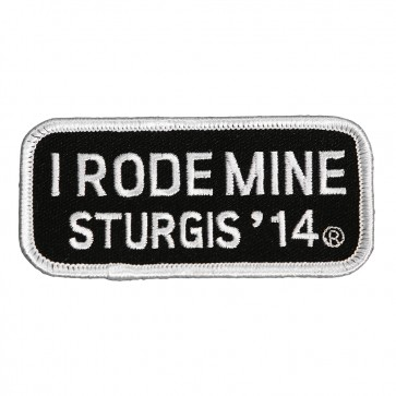 I Rode Mine White 74th Sturgis 2014 Patch, Official Sturgis Patches