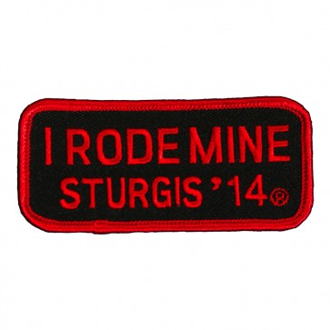 2014 Sturgis I Rode Mine Red Rally Patch
