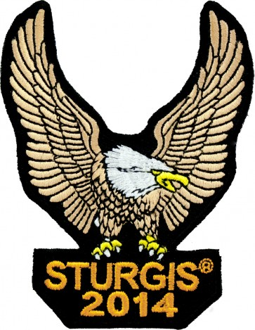 Brown Eagle Upwing 2014 Sturgis Event Patch, Sturgis Biker Patches