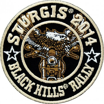 Eagle Biker Round 74th Anniversary Sturgis Rally Event Patch, Sturgis Biker Patches