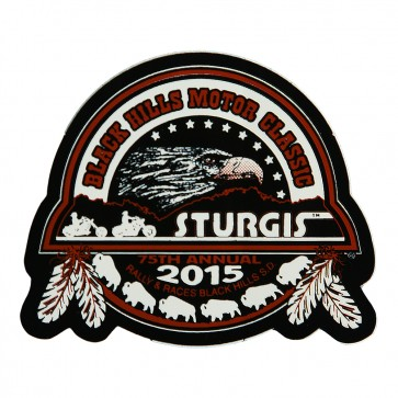 75th Anniversary Official Sturgis 2015 Black Hills Motor Classic Eagle Decal