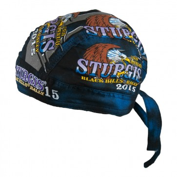 2015 Sturgis 75th Anniversary Motorcycle Rally Eagle Attack Headwrap
