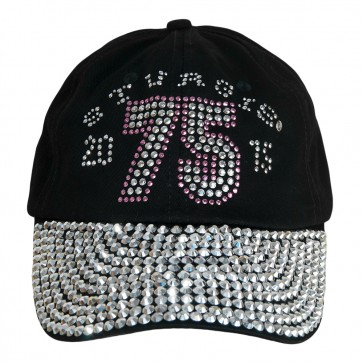 2015 Sturgis 75th Anniversary Black Hills Rally Black Bling Rhinestone Ladies Hat