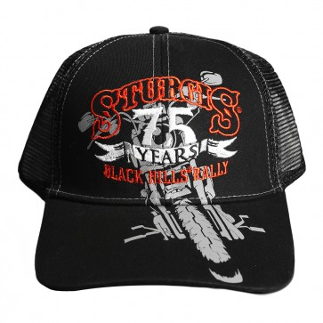 2015 Sturgis 75th Anniversary Black Hills Rally Motorcycle Mesh Event Hat