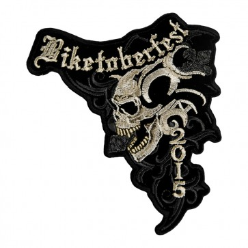 2015 Biketoberfest Marble Skull Event Patch