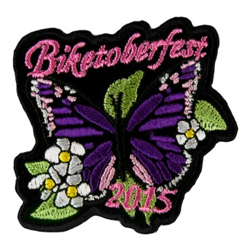 2015 Biketoberfest Purple Butterfly Flowered Event Patch
