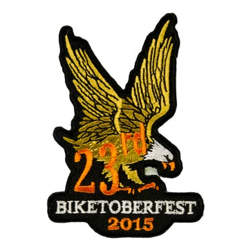 2015 Biketoberfest 23rd Brown & Orange Eagle Event Patch