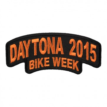 2015 Daytona Bike Week Stacked Orange Rocker Event Patch