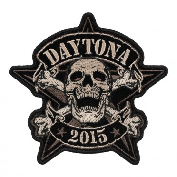 2015 Daytona Bike Week Sheriff Star Skull Event Patch