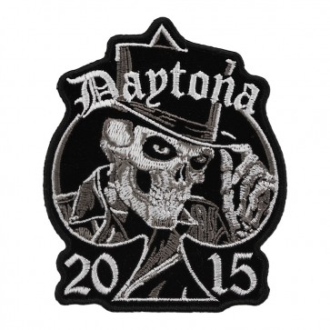 2015 Daytona Bike Week Top Hat Skull Spade Event Patch